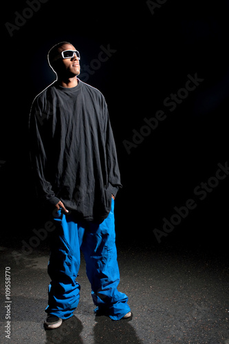 Guy Wearing Baggy Clothes Canvas Print