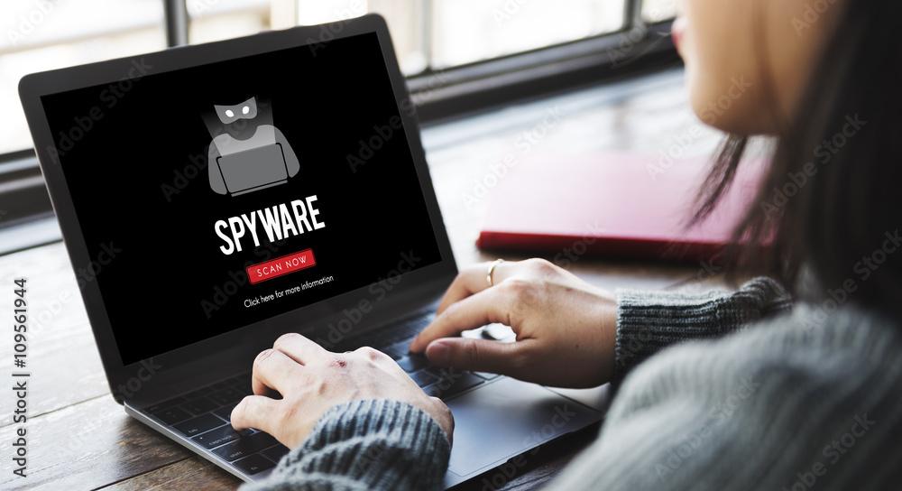 Fototapeta Scam Virus Spyware Malware Antivirus Concept