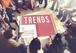 Leinwanddruck Bild - Trends Trendy Design Modern Style Concept