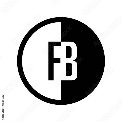 Initial Circle Half Logo Fb Buy This Stock Vector And Explore
