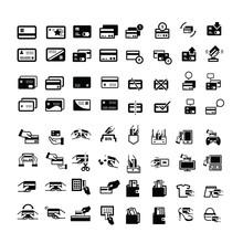 Credit Card Icons Set 64 Item