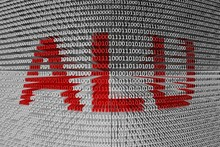 ALU In The Form Of Binary Code, 3D Illustration