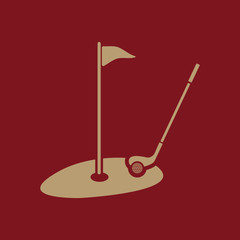Fototapeta Golf The golf icon. Sport symbol. Flat