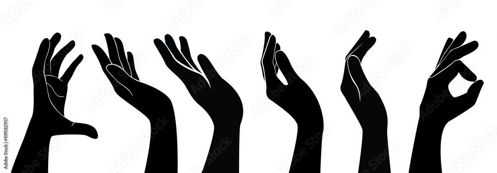 Fototapeta free hands holding vector