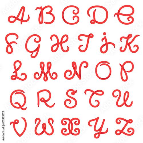 Photographie Shoe lace alphabet letters
