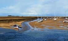 Boats At Low Tide On The North...