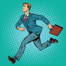 Businessman Running Man