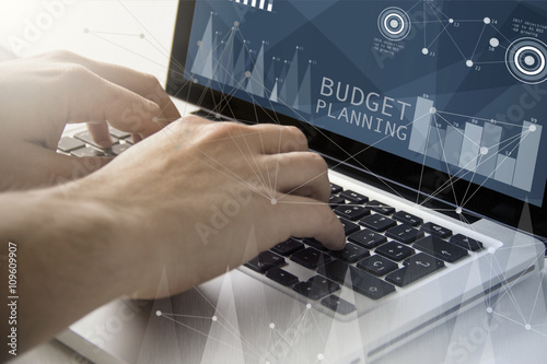 Fototapeta budget planning techie working obraz