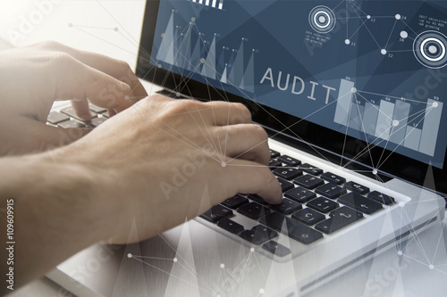 audit techie working