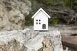 自然と白い家