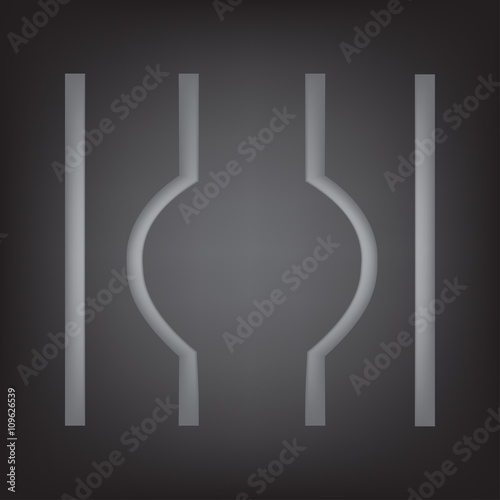Fotografie, Obraz  escaped from prison symbol, vector illustration