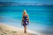 Woman on the beach in tunisia