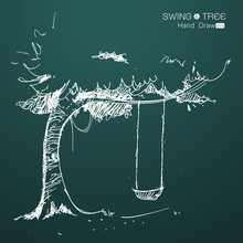 Tree With Swing Hand Draw