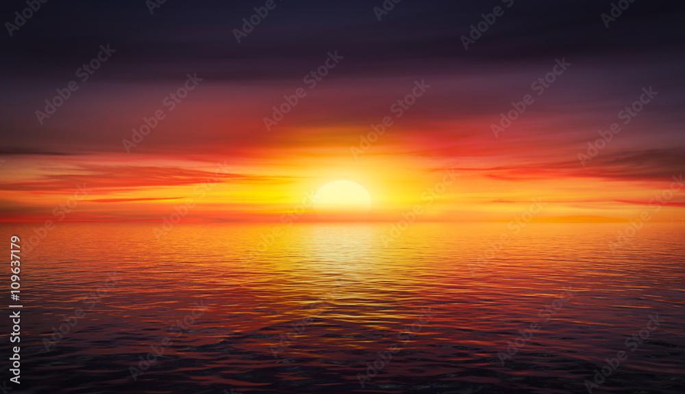 Fototapeta Beautiful summer sunset