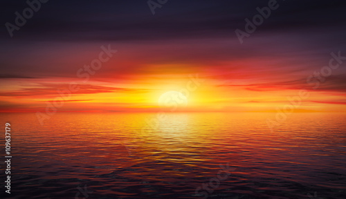 Fotografie, Tablou  Beautiful summer sunset