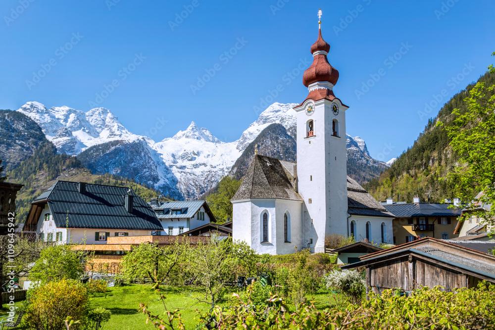 Fototapety, obrazy: Austrian village in the alps, Lofer, Austria