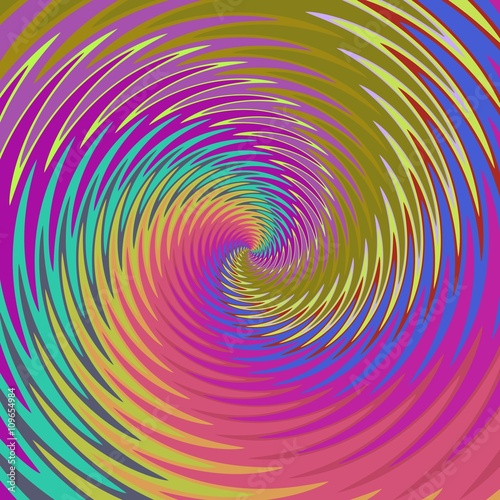 Poster Psychedelique Abstract colorful swirl background in amazing colors