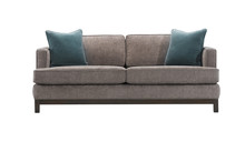 Grey Sofa And Blue Pillows Iso...