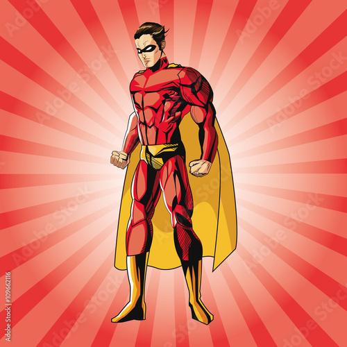 Superhero design. Superman icon. Costume illustration - 109662116