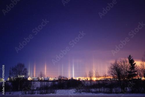 Photo Stands Night blue Polar Lights