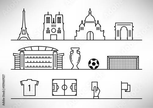 Fotografía France 2016 European Football Championship Design
