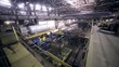 Industrial interior of a huge plant building. Inside view. HD.