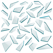 Shards Of Glass. Vector Illust...