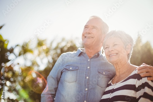 Front view of happy senior couple #109682910