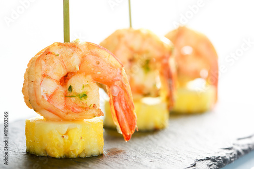 Fotografie, Tablou sweet and spicy shrimps