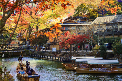 Poster Kyoto imageing of fall seasnon in Arashiyama, Japan