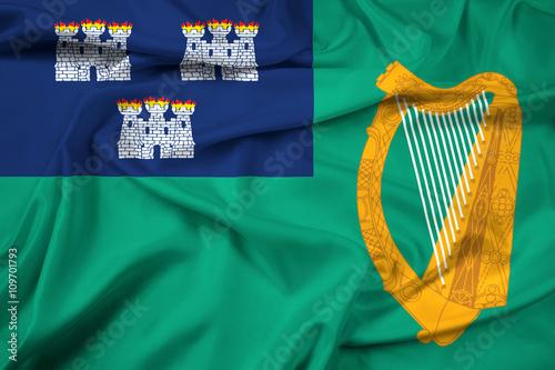 Waving Flag of Dublin Poster