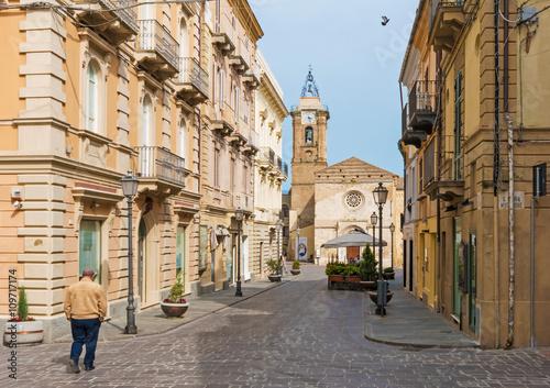 Vasto (Abruzzo, Italy) - The village overlooking the Adriatic sea Canvas Print