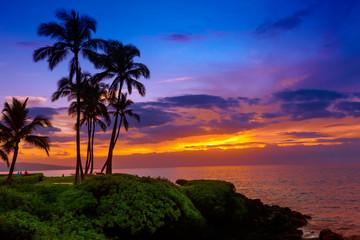 Fototapeta zachód słońca w tropikach