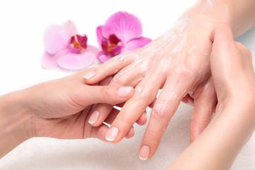 Fototapeta Do salonu kosmetycznego Masaż dłoni