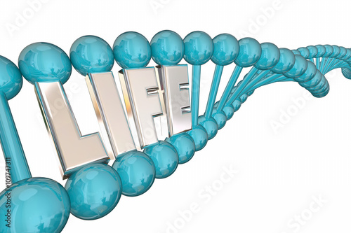 Photo  Life Word Health Care Medical Research DNA Strand 3d Illustratio