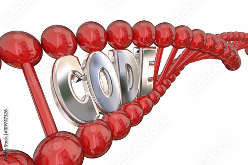 Photo  Code DNA Strand Word Heredity Genes 3d Illustration