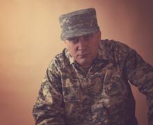Serious Military Army Man