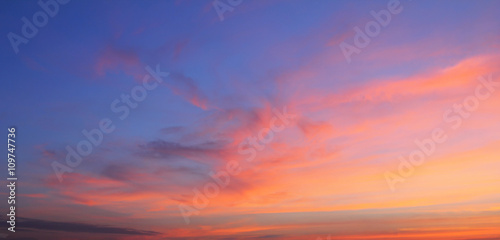 Fototapety, obrazy: Natural background of the colorful sky and cloud, During the time sunrise and sunset