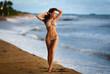Beautiful girl in a sexy bikini on the beach