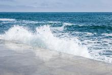 Big Waves On Rocky Coast And B...