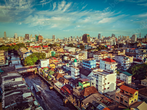 Bangkok  aerial view Poster