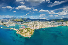 Aerial View From Drone Of Bodr...
