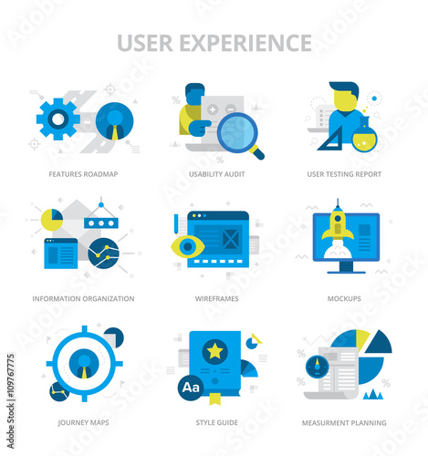 User Experience Flat Icons