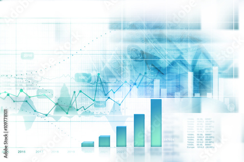 Fotografía  Economical stock market graph