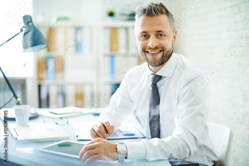 Fototapeta Successful employer obraz