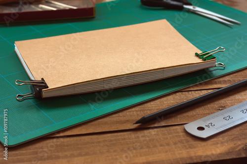 Fotografie, Obraz  Hand Bookbinding Process