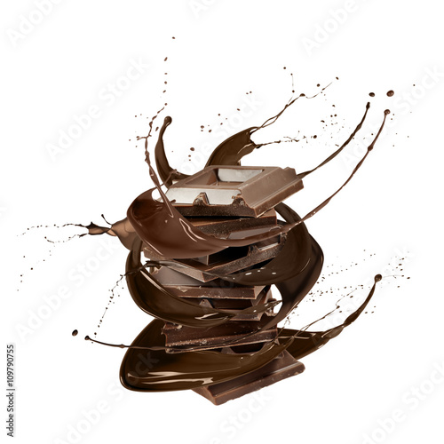 Fotografie, Obraz liquid chocolate