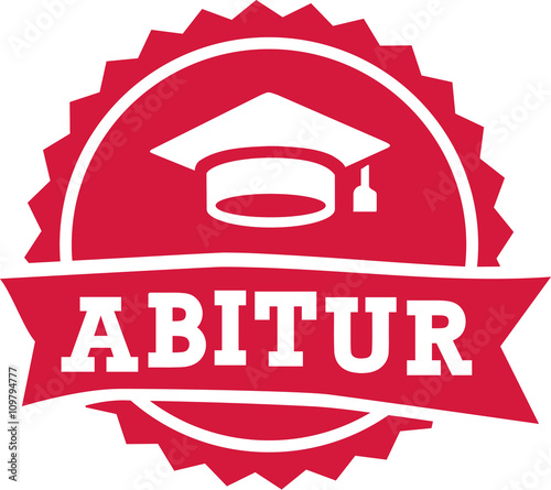 Abitur exam finish badge Wallpaper Mural