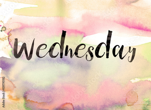 Wednesday Concept Watercolor Theme Buy This Stock Illustration And