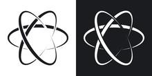Vector Atom Icon. Two-tone Ver...